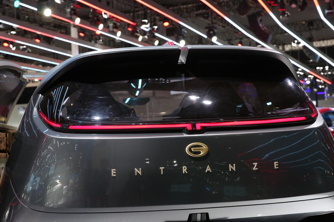 2019上海车展实拍:传祺ENTRANZE新能源