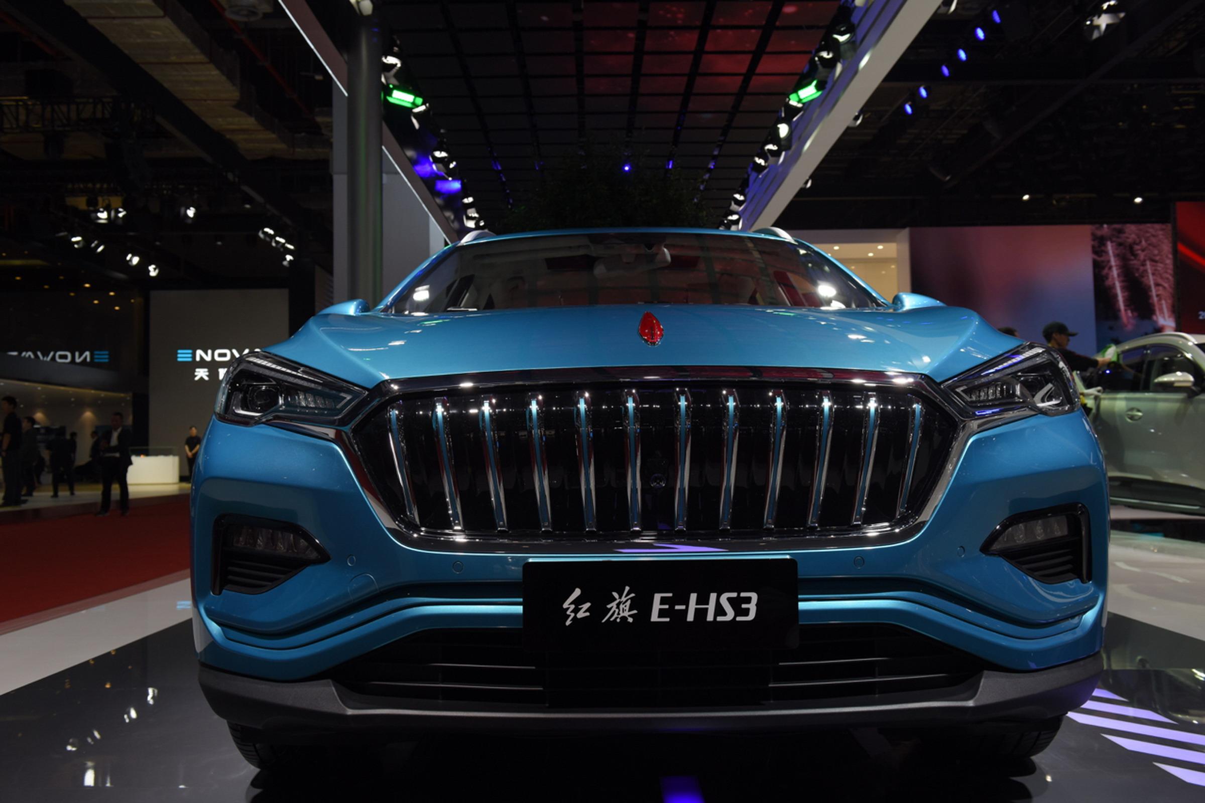 2019上海车展实拍:红旗E-HS3新能源