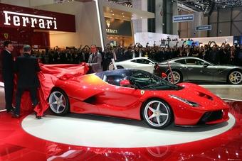 La Ferrari日内瓦车展现场图